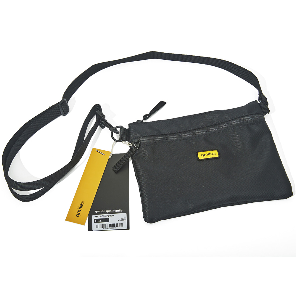 931 CROSS POUCH 	BLACK