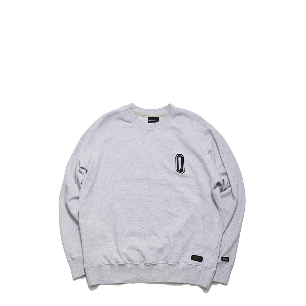 59A HLTDOK™ BIG Q EMBROIDERY CREWNECK ASH