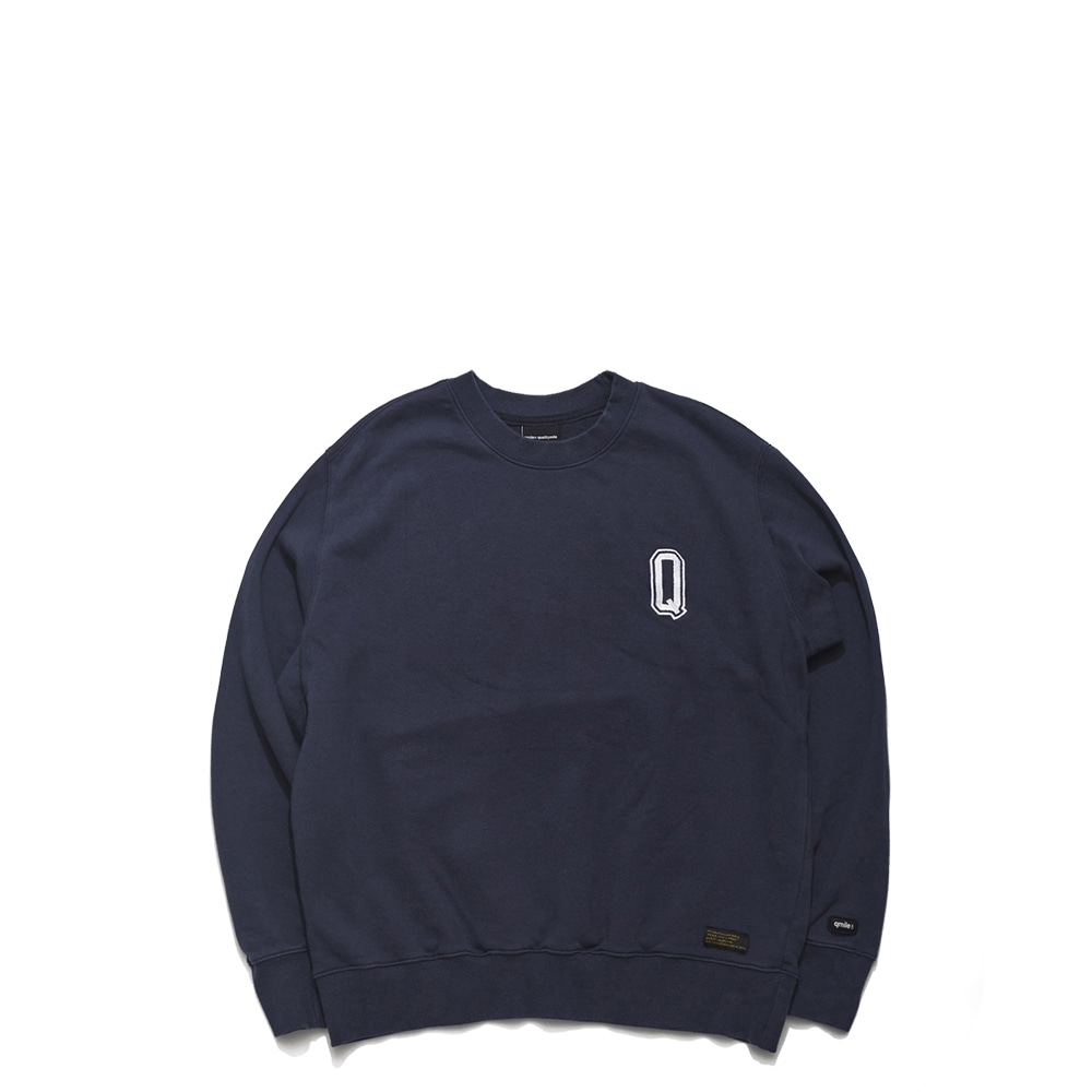 59B HLTDOK™ BIG Q EMBROIDERY CREWNECK NAVY