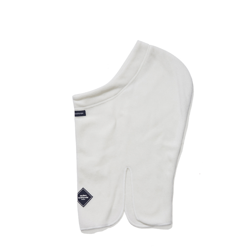 FLEECE OPEN BALACLAVA WHITE