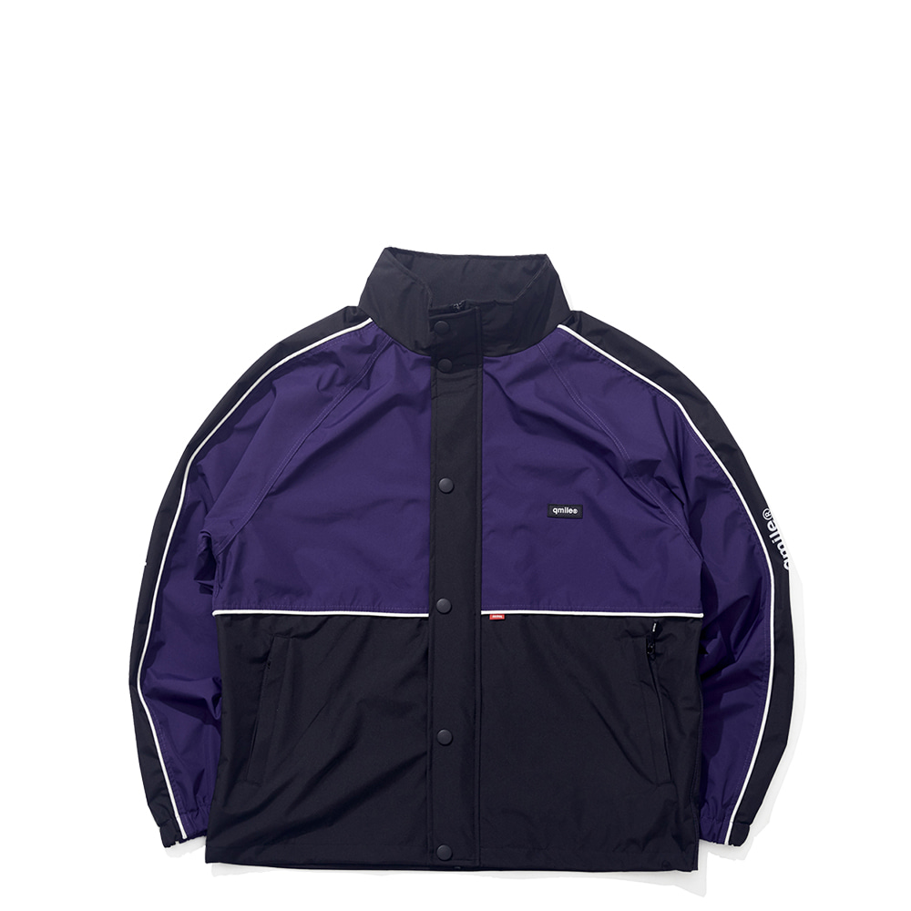 35A HALF BLOCK JACKET PURPLE / BLACK