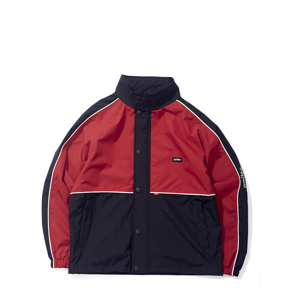 35A HALF BLOCK JACKET RED / BLACK